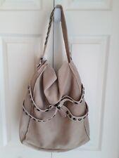 Twiggy of London Tan Suede Handbag With Studs