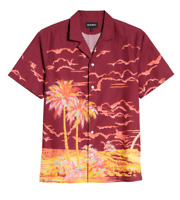 NEW Bonobos Shirt Button Hawaiian Island Print Cabana Beach Party Mens LARGE