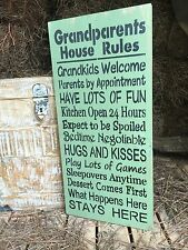 Grandparents House Rules, Funny Grandparent Sign, House Rules Sign, Fun Gift