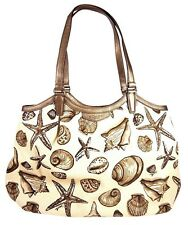 NWT COACH SEASHELL PRINT BEACH STARFISH BAG PURSE TOTE F29063