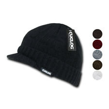 Cuglog Warm Winter Sweater Beanies Cable Knit Visor Jeep GI Skull Caps Hats