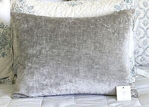 Restoration Hardware Italian Lustrous Velvet Pillow Cover- Lumbar 18 x 24 NWT