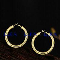Women's 18K Gold Filled Tarnish-Resistant X-Large Tubular Hoop Earrings E7-80mm