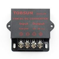SUPERNIGHT® 15W 12V/24V DC to DC 5V 3A Step Down Regulator Module Converter