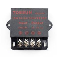 SUPERNIGHT® 15W 12V/24VDC to 5VDC 3A Step Down Regulator Converter