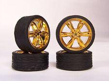 New Hoppin Hydros 1/24 1/25 scale Gold Talon SLIM 20's Rims Wheels & Tires Bulk