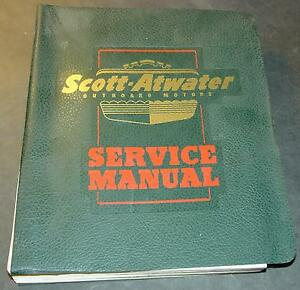 RARE 1946-1954 SCOTT-ATWATER OUTBOARD MOTORS HUGE SERVICE MANUAL NICE