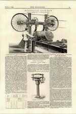 1895 Horizontal Band Saw Ransome Battersea Denison Hydraulic Press