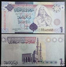 Libya 1 Dinar Banknote Omar Mouammer al Gaddafi 2009 Unc