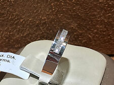 14K White gold Princes-cut Diamond Wedding Band with 0.75CT.total, size 7
