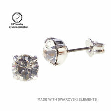 Versilberte Modeschmuck-Ohrschmuck im Ohrstecker-Stil mit Kristall für Damen