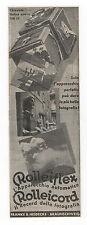 Pubblicità epoca 1935 ROLLEIFLEX FOTO PHOTO old advert werbung publicitè reklame