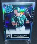 2017 Panini Donruss Optic Baseball Renato Nunez Auto Rookie Card #ed 30/35 A's. rookie card picture