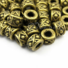 10 Antiqued Gold Plated Pewter Round Coin Beads 8mm  *