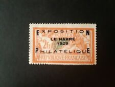 Timbre France exposition le havre 1929 neuf cote 875 euros