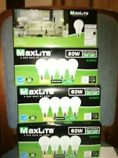 16 Bulbs LED 9W Soft White 2700K A19 60W Replacement by Maxlite