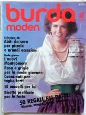 RIVISTA MAGAZINE BURDA MODEN 12 DEZEMBER 1985 + CARTAMODELLI + ALLEGATO ITALIANO