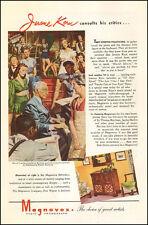 1945 WW2 era AD MAGNAVOX Radio Phonograph Art Jerome Kerns piano 122616