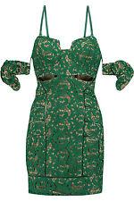 SELF-PORTRAIT Butterfly Guipure Lace Mini Dress - Green - UK 8/US 4