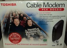 TOSHIBA Cable Modem PCX DOCSIS USB Or Ethernet Internet At Record Speeds NIB