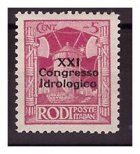 ISOLE EGEO  1930 -  XXI  CONGRESSO IDROLOGICO  Centesimi  5   NUOVO **