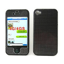 For Apple iPhone 4 4S HARD Protector Case Snap on Phone Cover Carbon Fiber