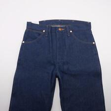 WRANGLER 13MWZ Cowboy Cut Boot Cut Starched Jeans Dark Wash Denim Mens 30x36