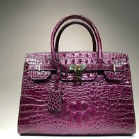 Luxurious New Women's Crocodile Embossed Handbag Real Leather Shoulder Bag Tote