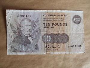 £10  CLYDESDALE  BANK, 1983,  HAMILTON.