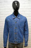 Giacca Blu Jeans Uomo Gianfranco Ferré Taglia L Giubbino Giubbotto Jacket Man