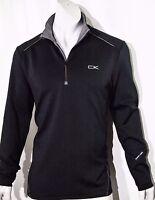 Calvin Klein men's quarter zip stretch interlock sweatshirt size large NEW