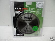 TREND 184MM 60T TCT THIN KERF SAW BLADE FITS DEWALT DCS365 CSB/cc18460T