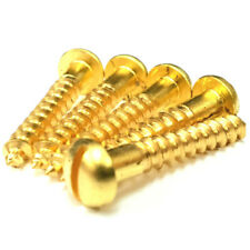 No. 2 3 4 6 8 10 12 Solid Brass Slotted Round Dome Head Wood Screws Multi-use