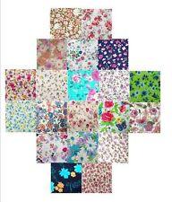 LOT de 50 coupons tissu multicolores 10x10cm