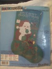 Christmas Stocking Kit Paintstitching Stamped Bucilla Colorpoint #63732 New Nip