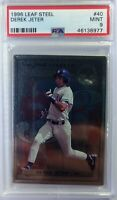 1996 96 Leaf Steel Derek Jeter Rookie RC #40, Yankees, HOF, Graded PSA 9