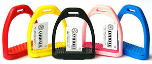 POLYMER STIRRUPS, WITH MATCHING COLOUR TREADS IN 5 COLOUR FROM AMIDALE BNWT