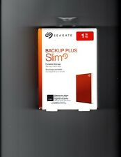 Seagate 1TB Backup Plus Slim Portable Drive USB 3.0 RED (STHN1000403) *Brand New
