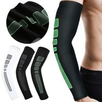Cycling Basketball Running Anti UV Arm Warmers Sleeve Compression Elbow Pad Cuff