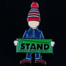STAND AMF Football Purists Pin Badge. A Guy Called Minty Rosso Bianco Nero 1878.