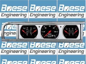 46 47 48 Plymouth Billet Aluminum Gauge Panel Dash Insert Wheel Odometer