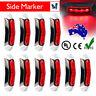 10x 12v/24v Red 4 LED Side Clearance Marker Light Car Truck Tail Trailer Lamp