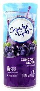 4 12-Quart Canisters Crystal Light Concord Grape Drink Mix