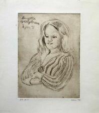 Aquatint Portrait Original Art Prints