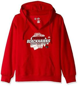 NHL Majestic Women's Chicago Blackhawks Plus Size Swift Play Pullover Hoodie