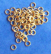 100 gold plated 4mm jump rings, findings for jewellery making crafts