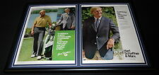 Jack Nicklaus 1981 Hart Schaffner & Marx Framed 12x18 Advertising Display