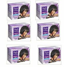 Dark and Lovely sin lejía Hair Relaxer Kit regular fuerza Fortalecedor Paquete de 6