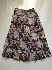Women's Multi Color Emma James   Flare Lined Floral Tiered   Skirt sz 14