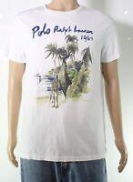 Polo Ralph Lauren Mens T-Shirt White Size Large L Custom Slim Fit $55 175